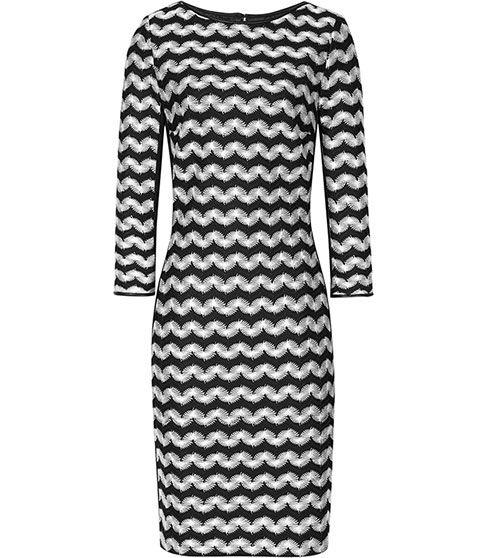 Reiss Jackie Monochrome Stripe Dress | Clothing