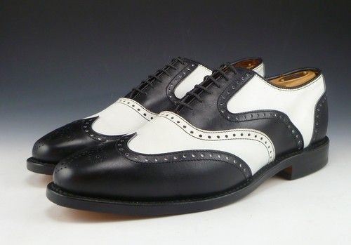 Allen Edmonds Spectator Shoes Black And White