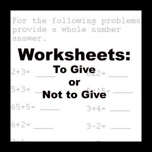 How can you teach math without worksheets? This post (from a ...