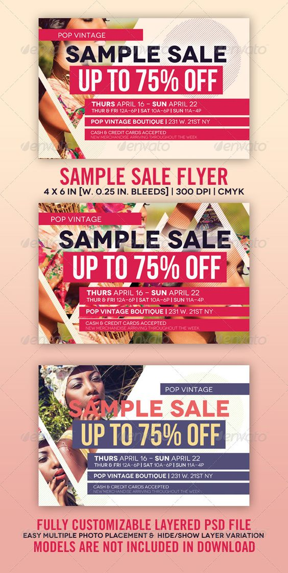 Sample Sale Flyer | Party events, Fonts and Shopping