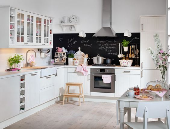 FAKTUM Einbauküche Mit STÅT Front in Elfenbeinweiß - az üveges - tresen für küche