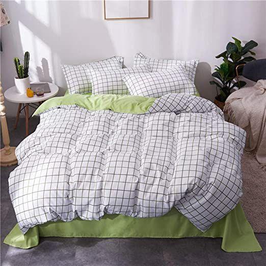 Bjtbjtbjt Girl Bed Double Denim Bed Sheet Three Piece Set Student Dormitory Single Quilt Cover Two Pi King Size Bedding Sets Couples Bedding Set Bed Linen Sets