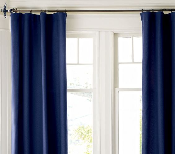 Blackout Curtains blackout curtains navy blue : Black Out Curtains Emily Henderson — Stylist - BLOG - Secrets to ...