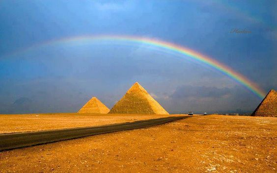 Rainbow Over the Pyramids | Most Beautiful Pages
