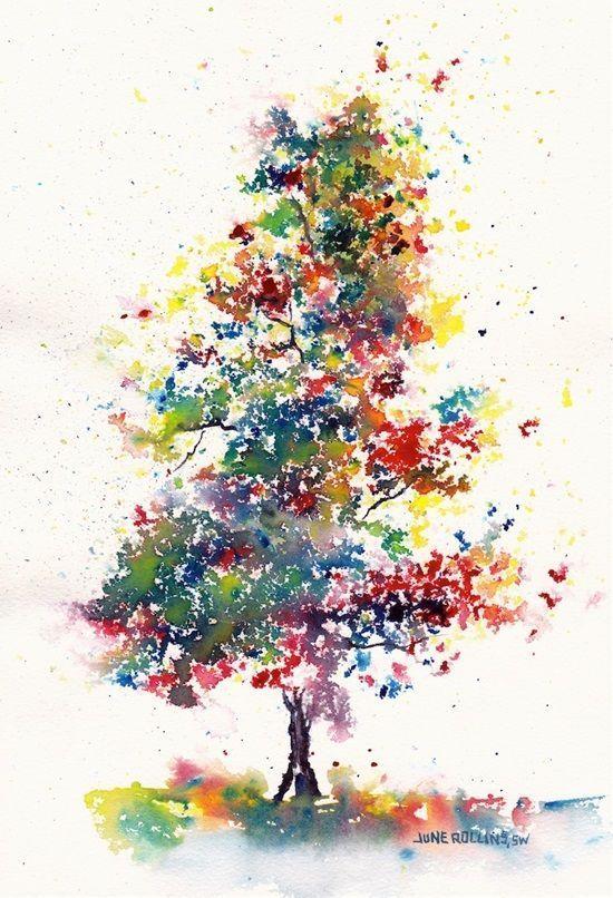 Simple And Beginner Friendly Watercolor Ideas Tree Drawings