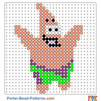 Patrick perler bead pattern download a great collection for Free beados templates