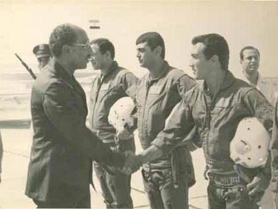 October war Yom Kippur war حرب اكتوبر President sadat with his pilots