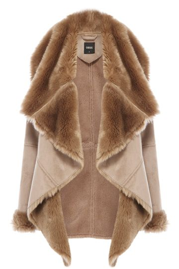 Oasis - £80 Our faux shearling drape jacket is the chicest way to