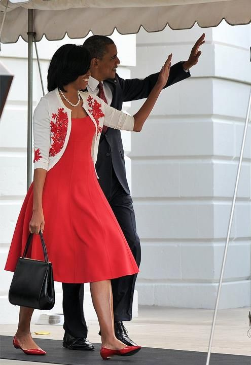 Michele Obama in Michael Kors. A love-love situation.