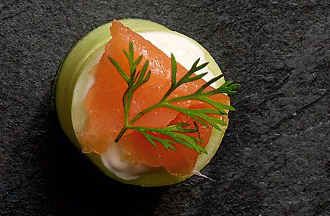 ... with smoked salmon | Recipe | Cucumber Cups, Smoked Salmon and Salmon
