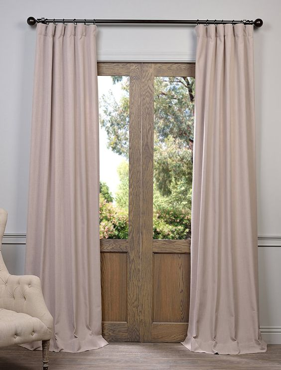Curtains Ideas brown linen curtains : match revere pewter? Latte Heavy Faux Linen Curtain - SKU: FHLCH ...