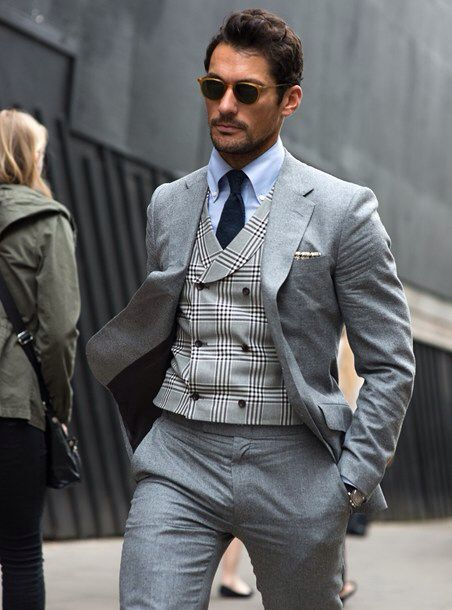 Contrasting waistcoat pattern