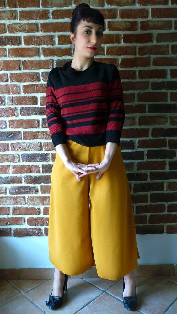 Belleville crepe trousers di MisStufiSaraForlini su Etsy
