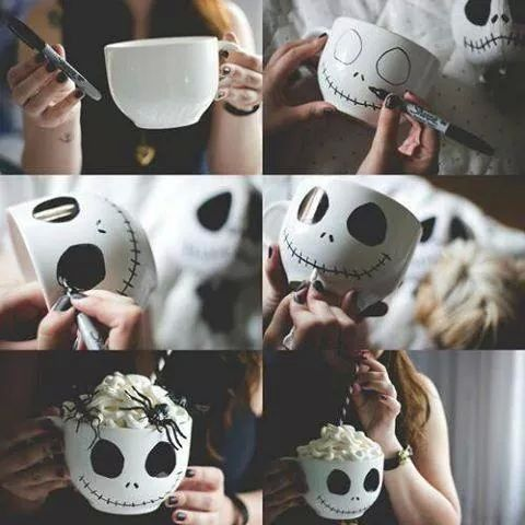 DIY Jack Skellington Mug! Too Cute!!: