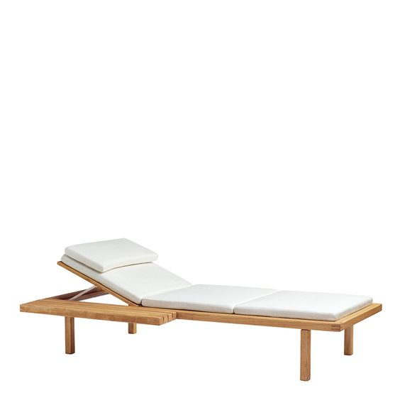 Vis À Vis Chaise Lounge With Side Table - Janus Et Cie | Walnut