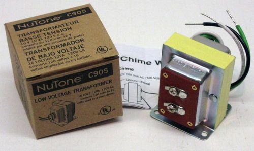 C905 16 Volt 10va Transformer Broan Nutone Door Chime Low Voltage 120 V Primary Low Voltage Transformer Broan Transformers