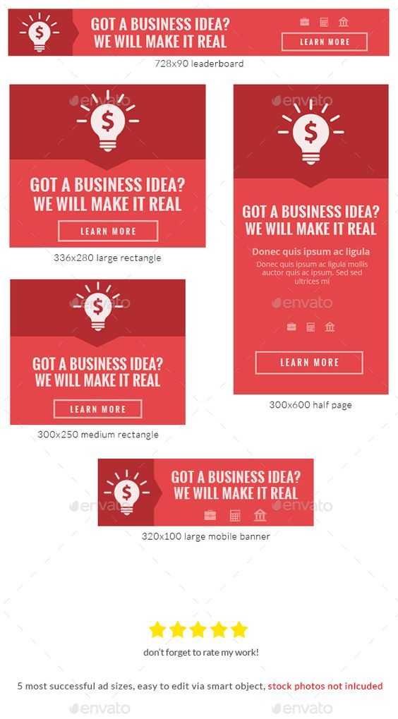 Set of web banner templates for your site or blog with abstract
