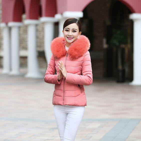 33.79$  Buy now - https://alitems.com/g/1e8d114494b01f4c715516525dc3e8/?i=5&ulp=https%3A%2F%2Fwww.aliexpress.com%2Fitem%2FShort-style-women-cotton-coat-new-tide-fashion-winter-solid-Fur-collar-female-parkas-keep-warm%2F32523577631.html - Short style women cotton coat new tide fashion winter solid Fur collar female parkas keep warm long sleeve brief lady clothing