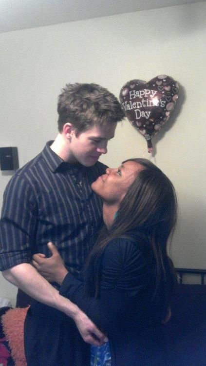 Cute young interracial couple celebrating Valentine's day #love #wmbw #bwwm