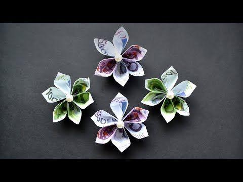 Herrlich Origami Blume Euro Geldschein Geld Falten Easy Money Origami Flower Tutorial Diy Youtube B Money Origami Origami Money Flowers Easy Money Origami