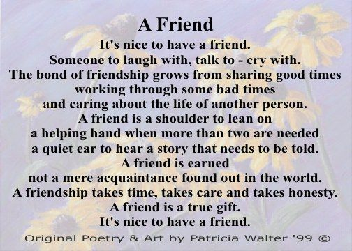 Pin By Rose Bray On Friendship Quotes Friend Poems Friendship Poems Best Friendship Quotes