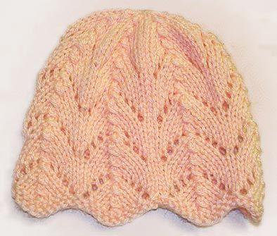 Ripple Knitting Pattern : Free Knitting Pattern For Ripple Eyelet Baby Hat Knitting Pinterest Bab...