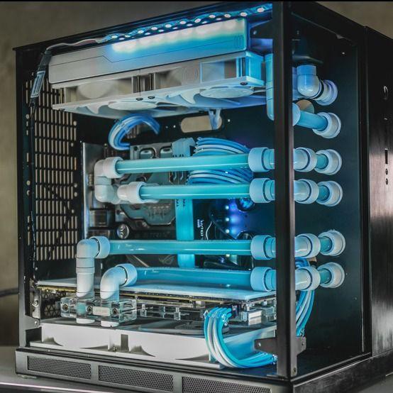 Color S Light Blue Rgb Lighting No Cooling Custom Liquid
