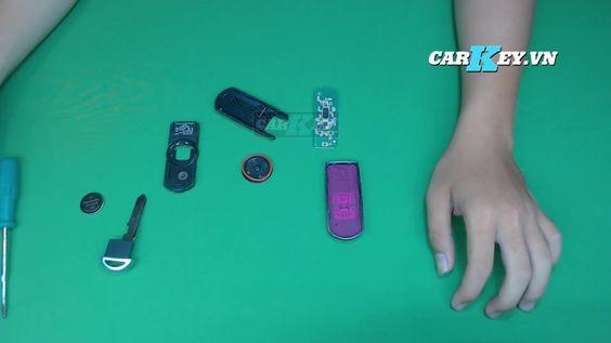 Tháo vỏ chìa khóa mazda 3