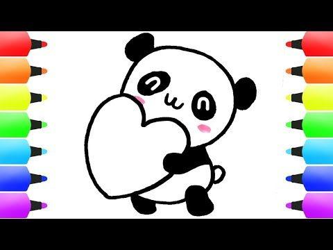 تعليم الرسم رسم باندا سهل جدا رسم سهل رسومات بالرصاص Easy Drawings Youtube Valentines Day Drawing Cute Drawings Panda Love