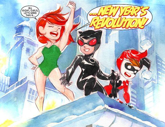 "The Sirens in Batman Lil Gotham Chapter 4 "" New Year's Revolution"" - Dustin Nguyen"