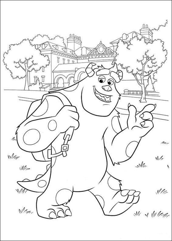 coloring page monsters university monsters university