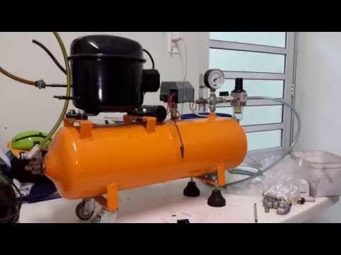 Compressore Autocostruito Youtube Com Imagens Compressores De Ar