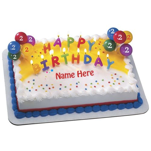 Happy 2nd Birthday Special Designer Cake With Name Write