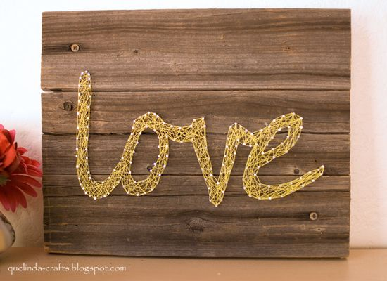 create wall art with string