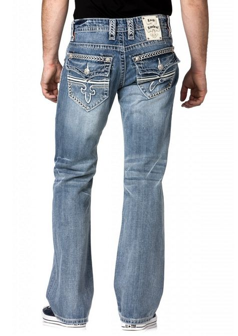 Men&39s Rock Revival Sebastian Bootcut Jean  Get your man in these