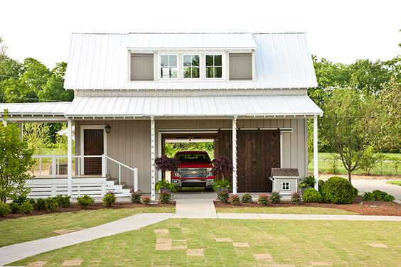 Garage detached garage and southern living on pinterest for Southern living detached garage plans
