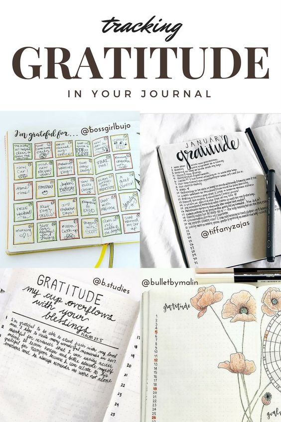 gratitude tracker think more positively