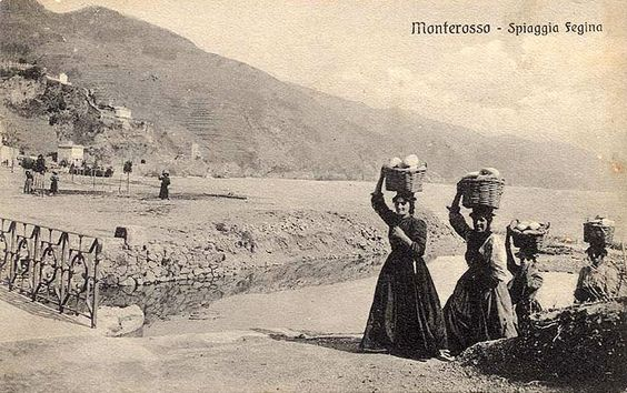 MONTEROSSO - Spiaggia Fegina - FOTO STORICHE CARTOLINE ANTICHE E RICORDI DELLA…