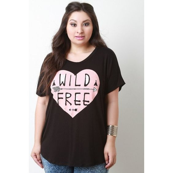 Wild Free Jersey Knit Short Sleeve Top ($35) via Polyvore featuring tops, plus size short sleeve tops, round neck top, womens plus tops, short sleeve tops and plus size tops
