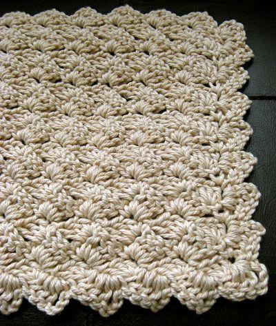tulip stitch washcloth