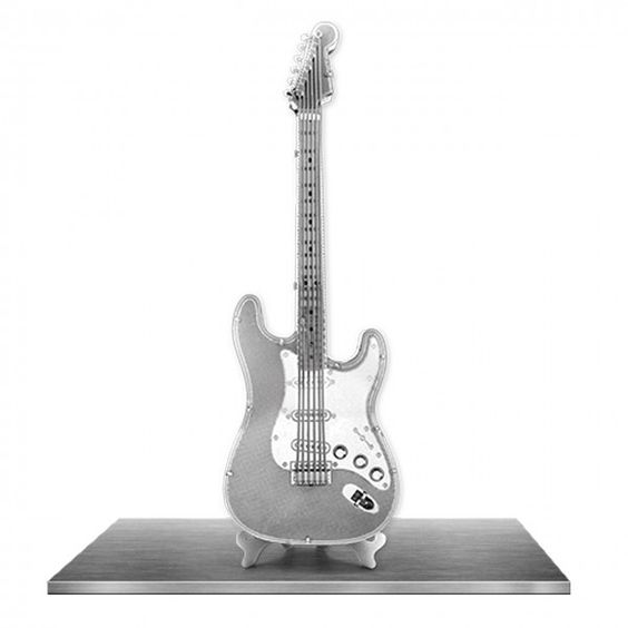 Maquette Métal 3D Guitare Electrique suggestion de présentation