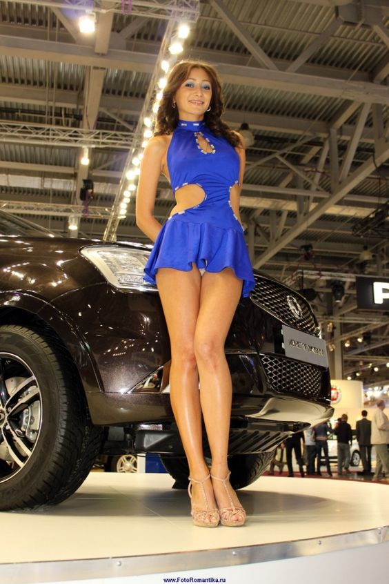 Dirty slut!thanks Upskirt pictures of motor show models delicious