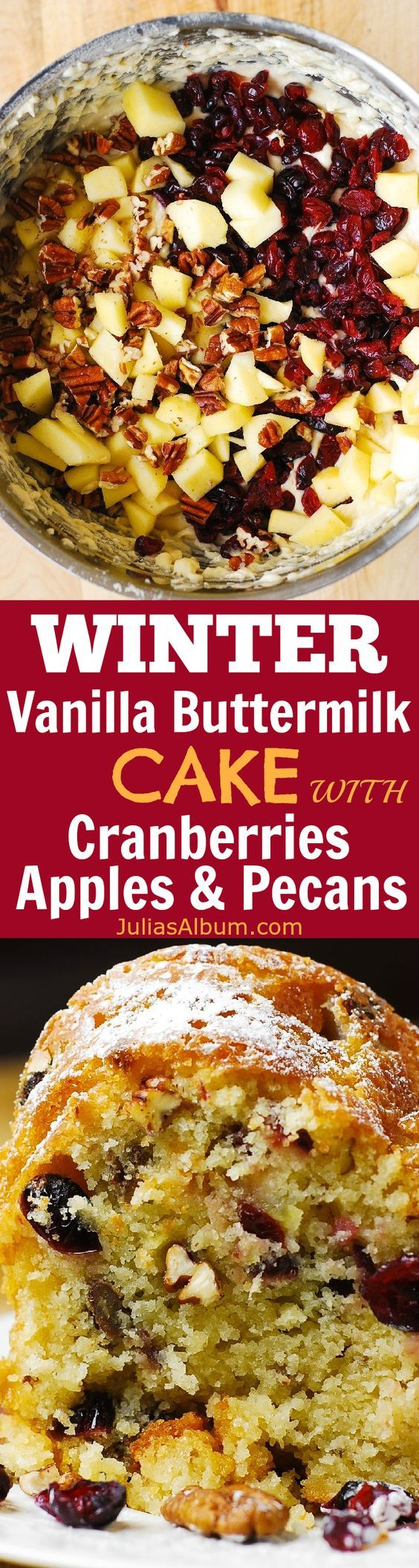 ... winter recipes pecans cranberries vanilla apples cakes winter holiday