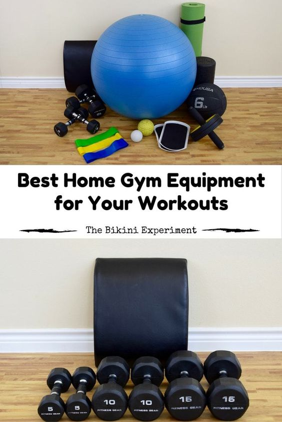 Home at workouts and best gym equipment on