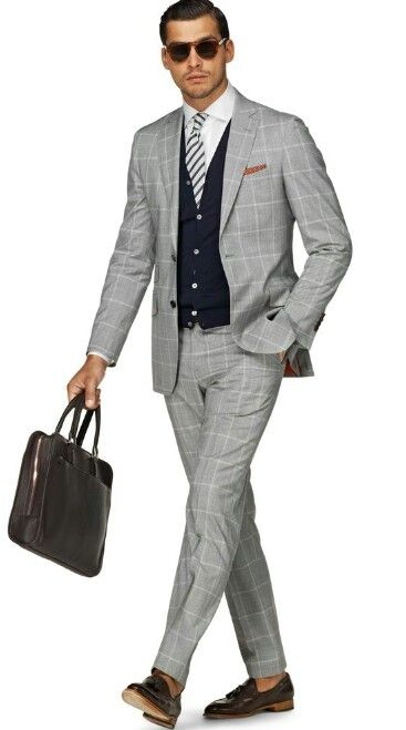 Light Grey Suit☆Navy vest☆ ACCESSORIES | # MENSWEAR FOR YOU