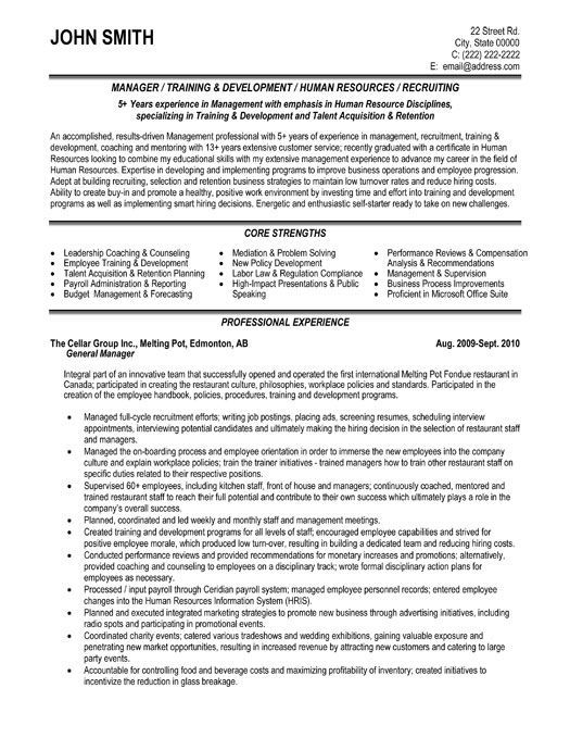 Resume Examples General Manager Examples General Manager Resume Resumeexamples Human Resources Resume Resume Templates Manager Resume