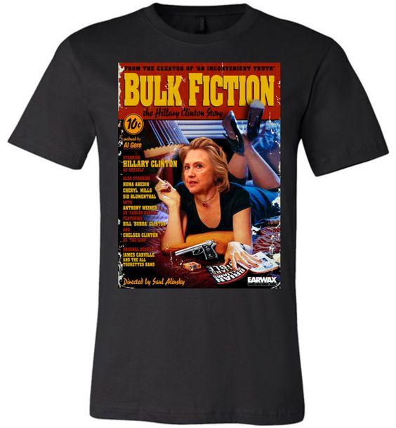 Anti-Hillary Bulk Fiction Canvas Unisex T-Shirt