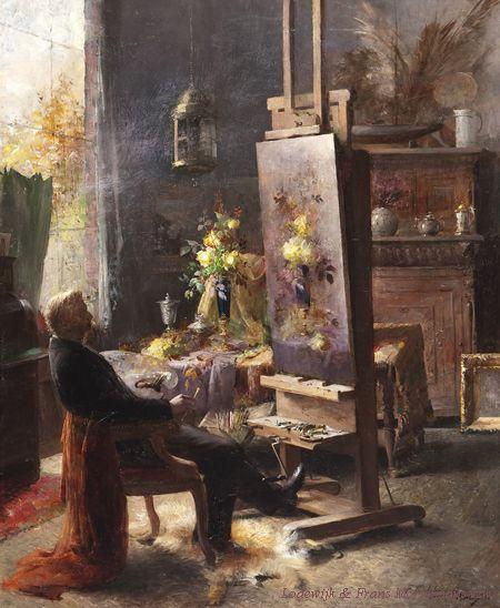 Бельгийский художник Frans Mortelmans (1865-1936) (53 работ):