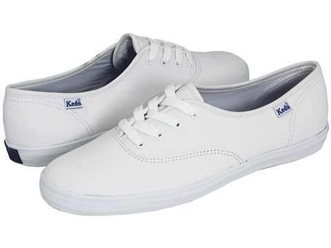 all white leather keds