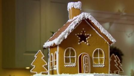 Gingerbread house - from Mary Berry with boiled sweet windows.  Put a night light inside to make windows glow at night